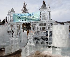 Estes Park Winter Festival Ice Castle