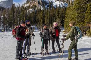 Snowshoe walk with a ranger. Image source: nps.gov