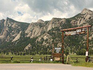 entrance sign MacGregor Ranch