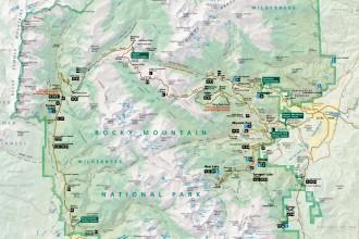Rocky Mountain National Park maps
