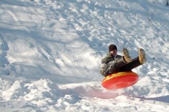 Sledding in Estes Park