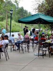 Starbucks Estes Park patio on the Riverwalk